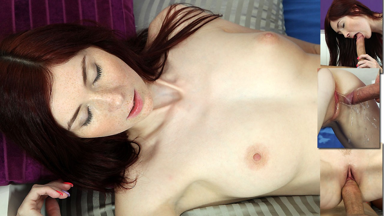 Freckled Redhead Loves The Pee